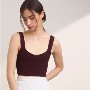 Aritzia Wilfred Mony Knit Top